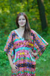 """Breezy Bohemian"" kaftan in Diamond Aztec pattern"