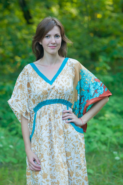 """Breezy Bohemian"" kaftan in Falling Leaves pattern"