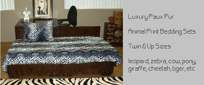 Faux Fur Animal Print Bedding
