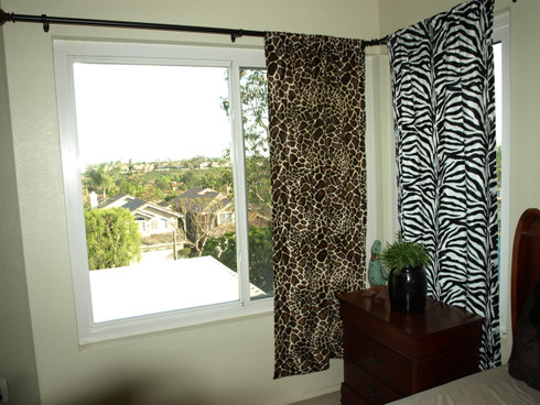 Animal Print Curtains Leopard Zebra Western Curtains Cow Pony