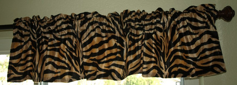 Animal Print Window Valance Brown Zebra