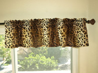 Leopard Window Valance
