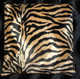 Brown Zebra Pillow Cover