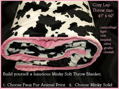 Faux Fur Animal Print Minky Dots Blankets