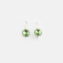 Peridot Floral Drop Earrings (E3187)