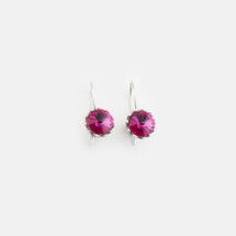 Fuschia Floral Drop Earrings (E3186)