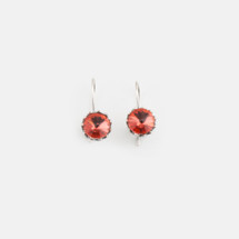 Tangerine Floral Drop Earrings (E2999)
