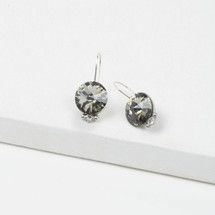 Tiger Lily Black Diamond Earrings (E3208)