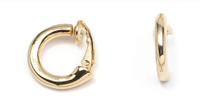 Miglio Gold Plated Clip-On Hoop Earrings (E1053)
