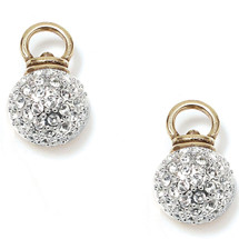 Glittering Pav'e Swarovski® Charm Earrings (E1056)