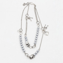 Serenity Grey Pearl Necklace (N1837)