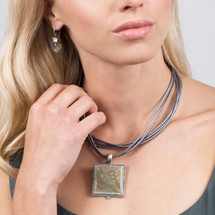 Metallica Leather Necklace (N1086)