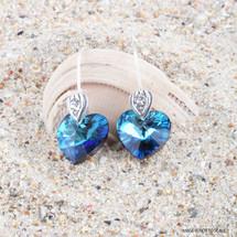 Deep Sea Diva Heart Earrings (E3358)