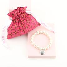 Mom Charm Pearl Stretch Bracelet (MD001)
