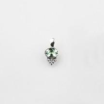 Petite chrysolite Swarovski® Crystal pendant with filigree detail