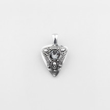 Eclectric Black Diamond & Tribal Detailed Pendant