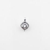 Square filigree pendant with a classic Swarovski® Crystal centre
