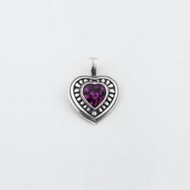 Amethyst Swarovski® Crystal Heart Pendant (EN1174)