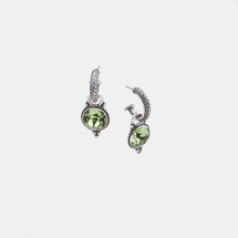 Set of three Swarovski® Crystal Pretty Woman earrings in peridot, chrysolite and erinite (Pretty Woman hoops included)