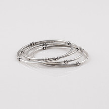 Detailed burnished silver plated bangle.