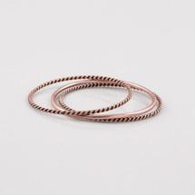 Copper Nautical Bangle Set