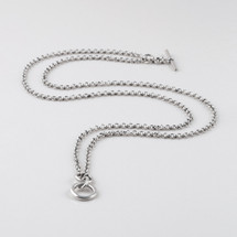 Versatile burnished silver plated necklace. Length: 45 cm
