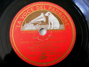 ENRICO CARUSO lvdp 1655 NEAPOLITAN 78 ADDIO A NAPOLI/MUSICA PROIBITA