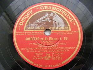 EDWIN FISCHER Gramophone DB 3339 PIANO 4x78 Set MOZART Cocn K-491 NM