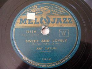 ART TATUM Melojazz 7013 JAZZ 78 SWEET AND LOVELY / DANNY BOY