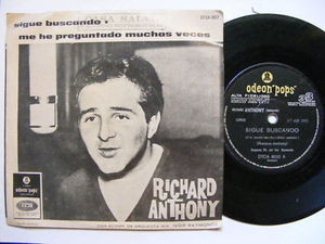 "7"" RICHARD ANTHONY Sigue Buscando ODEON 513 Arg EP PS"