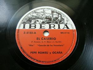 HERRERO & ROMEU duo IBERIA Z2133 Rare SPANISH 78rpm