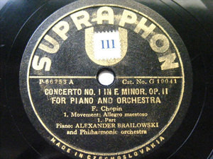 ALEXANDER BRAILOWSKY Ultraphon 19041 PIANO 4x78 Set CHOPIN Concerto No.1