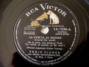 EDDIE FISHER & WINTERHALTER Victor 1326 ARG 78 LA VUELTA AL MUNDO