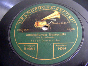 SEPPL DAMMHOFER Gramophone 14594 DEUTSCH COMIC 78rpm