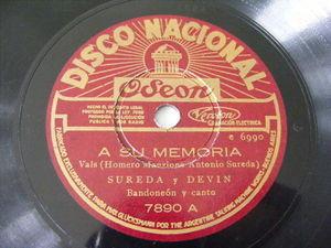 SUREDA & DEVIN Nacional 7890 BANDONEON 78 A SU MEMORIA / VINCHA BRUJA