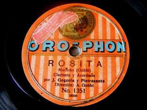 GOZZOLA Acordeon PIETRASANTA Clarinet OROPHON 1351 78