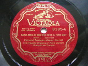 COPPOLA, ANSSEAU & JOURNET Victrola 8185 OPERA 78 FAUST