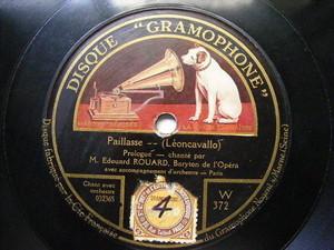 EDOUARD ROUARD Gramophone 372 OPERA 78 CARMEN Air Du Toreador