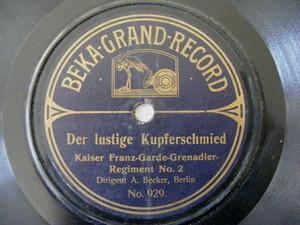 KAISER FRANZ GARDE GRENADIER Beka 929 78 DER LUSTIGE KUPFERSCHMIED