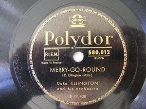 DUKE ELLINGTON Polydor 17408 JAZZ 78 MERRY-GO-ROUND / CLARINET LAMENT NM