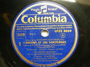 ERNEST BOUR Columbia LFXS 8029 6x78 Set RAVEL L'Enfant Et Les Sortileges NM