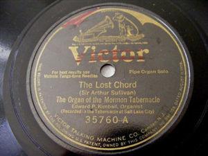 EDWARD P. KIMBALL Victor 35760 ORGAN 78rpm LOST CHORD