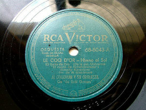 "12"" AL GOODMAN Victor 68-8043 78 LE COQ D'OR / DANZA GITANA"