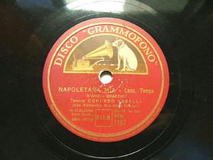 CORRADO VASELLI Grammofono 1197 ITALIAN 78 NAPOLETANA MIA