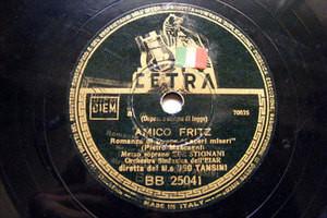EBE STIGNANI Cetra 25041 OPERA 78rpm MIGNON/AMOCO FRITZ