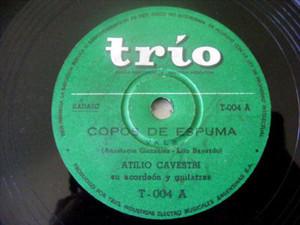 ATILIO CAVESTRI Trio 4 ACORDEON 78 COPOS DE ESPUMA