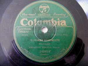 GUISEPPE MILANO Columbia 14385 NEAPOLITAN 78 O PRIMMO REGGIMENTO