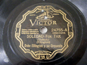 DUKE ELLINGTON Victor 24755 JAZZ 78rpm SOLEDAD/SERENATA