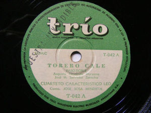 JOSE MENDIETA y 4to LEO Trio 42 FOLK 78 TORERO CALE