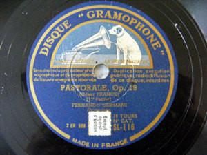 FERNANDO GERMANI Gramophone 116 ORGANIST 78rp PASTORALE